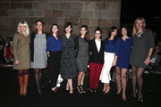 (L-R) Thais Blume, Cristina Dilla, Joana Vilapuig, Mariona Ribas, Aida Flix, Nuria Gago, Cristina Brondo, Helena Gadel and Alejandra Prat attend the front row of Sita Murt show during the Barcelona 080 Fashion Week Autumn/Winter 2016/2017 at Casa Llotja de Mar on February 2, 2016 in Barcelona, Spain.