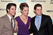 """(L-R)Darren Criss, Laura Osnes and Jeremy Jordan attend HBO's New York Premiere of """"'Six by Sondheim'"""" at Museum of Modern Art on November 18, 2013 in New York City."""
