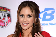 UFC Octagon Girl and model Brittney Palmer shows off her engagement ring as she arrives at the sixth annual Fighters Only World Mixed Martial Arts Awards at The Palazzo Las Vegas on February 7, 2014 in Las Vegas, Nevada.
