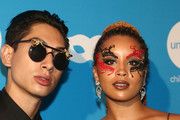 Jillian Hervey and Lucas Goodman of Lion Babe attend the Sixth Annual UNICEF Masquerade Ball at Clifton's Republic on October 25, 2018 in Los Angeles, California.
