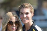Stylist Rachel Zoe (L) and co-host Delfina Blaquier attend the Sixth-Annual Veuve Clicquot Polo Classic at Will Rogers State Historic Park on October 17, 2015 in Pacific Palisades, California.