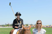 Hilario Figueras and Delfina Blaquier attend the sixth annual Veuve Clicquot Polo match Classic on June 1, 2013 in Jersey City.
