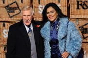 Bruce Forsyth and Wilnelia Forsyth attend the launch of Skate at Somerset House on November 10, 2014 in London, England.