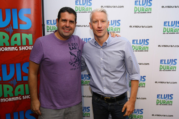 Elvis Duran Morning Show Scary Anderson cooper visits elvis