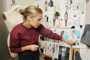 Designer Charlotte Ronson shows sketches at her design studio with Sketch To Street Style: Washable Is Fashionable With Tide Pods And Charlotte Ronson's F/W 2015 Collection on February 12, 2015 in New York City.
