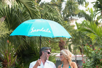 Slade Smiley Lovebirds Gretchen Rossi And Slade Smiley Spotted Enjoying Their Vacation At Sandals Grande Antigua Resort & Spa