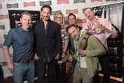"""President and co-founder of Slamdance Peter Baxter, actor Joe Manganiello, Executive Vice President of Cinema Programming for ArcLight Gretchen McCourt, director Steve Yu, actor David Arquette and wrestler Diamond Dallas Page attend the Slamdance Cinema Club screening of """"Resurrection Of Jake The Snake"""" at ArcLight Cinemas on March 8, 2015 in Hollywood, California."""