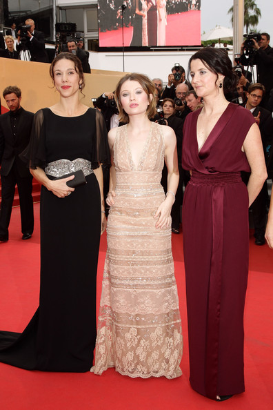 Producer Jessica Brentnall, actress Emily Browning and director Julia Leigh arrive at the 'Sleeping Beauty' premiere during the 64th Annual Cannes Film Festival at the Palais des Festivals on May 12, 2011 in Cannes, France.