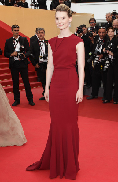 Actress Mia Wasikowska  arrives at the 'Sleeping Beauty' premiere during the 64th Annual Cannes Film Festival at the Palais des Festivals on May 12, 2011 in Cannes, France.