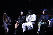 (L-R) Jennifer Connelly, Daveed Diggs and Alison Wright speak onstage at the Snowpiercer panel during New York Comic Con at Hammerstein Ballroom on October 05, 2019 in New York City.