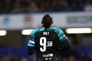 Usain Bolt of Soccer Aid World XI during the 2019 Soccer Aid for UNICEF match between England and Soccer Aid World XI at Stamford Bridge on June 16, 2019 in London, England.