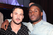 Retransmission with alternate crop.) Danny Amendola and Reggie Bush attend TAO group's Big Game Takeover presented by Tongue & Groove on January 31, 2019 in Atlanta, Georgia.