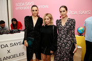 (L-R) Grace Gould, Ashley Tisdale, and Louise Roe attend Soda Says Celebrates US Launch on November 07, 2018 in Los Angeles, California.