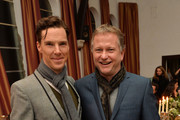 Benedict Cumberbatch (L) and Nick Jones at the Soho House and Grey Goose party to celebrate the CineCity film festival on November 13, 2013 in Brighton, England.  Guests enjoyed a three course sharing menu prepared by Soho House and Grey Goose cocktails.  ;