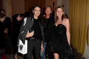 """Viviana Volpicella, Angelo Gioia and Anna Dello Russo attend """"Solve Sundsbo. Beyond The Still Image"""" exhibition opening during the Vogue Photo Festival at Palazzo Reale on November 14, 2018 in Milan, Italy."""