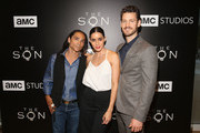 (L-R) Actors Zahn McClarnon, Paola Nunez and Henry Garrett attend AMC's 'The Son' FYC Screening & Panel Discussion on April 15, 2017 in Los Angeles, California.