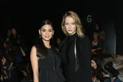 Models Pia Wurtzbach and Olivia Jordan attend the Son Jung Wan Fall 2016 fashion show during New York Fashion Week: The Shows at The Dock, Skylight at Moynihan Station on February 13, 2016 in New York City.