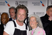 Songwriters Hall of Fame Inductee John Mellencamp and Nora Guthrie pose backstage during the Songwriters Hall of Fame 49th Annual Induction and Awards Dinner at New York Marriott Marquis Hotel on June 14, 2018 in New York City.