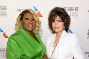 Patti LaBelle and Carole Bayer Sager pose backstage during the Songwriters Hall Of Fame 50th Annual Induction And Awards Dinner at The New York Marriott Marquis on June 13, 2019 in New York City.