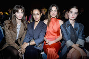 Annabelle Belmondo, Hiba Abouk, Eleonore Toulin and Adele Farine attend the Sonia Rykiel show as part of the Paris Fashion Week Womenswear Fall/Winter 2018/2019 on March 3, 2018 in Paris, France.