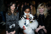(L-R) Alma Jodorowsky, Selah Marley and Lou Lesage attend the Sonia Rykiel show as part of the Paris Fashion Week Womenswear Fall/Winter 2018/2019 on March 3, 2018 in Paris, France.