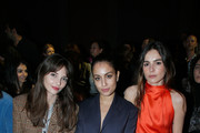 Annabelle Belmondo, Hiba Abouk and Eleonore Toulin attends the Sonia Rykiel show as part of the Paris Fashion Week Womenswear Fall/Winter 2018/2019 on March 3, 2018 in Paris, France.