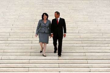 John Roberts ( Sonia Sotomayor Sonia Sotomayor Attends Formal Investiture Ceremony At U.S. Supreme Court