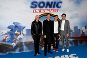 "Neal H. Moritz, Jim Carrey, Jeff Fowler and Ben Schwartz attends the ""Sonic The Hedgehog"" Gala Screening at Vue Westfield on January 30, 2020 in London, England."