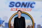 "Jim Carrey attends the ""Sonic the Hedgehog"" London Fan Screening at Vue Westfield on January 30, 2020 in London, United Kingdom."