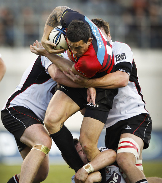 Sonny Bill Williams Sonny Bill Williams of Canterbury is tackled ...