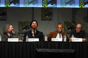"Actors Mark Boone Junior, Ryan Hurst, Theo Rossi and Dayton Callie speak at ""Sons of Anarchy"" Pane during Comic-Con International 2012 at San Diego Convention Center on July 15, 2012 in San Diego, California."