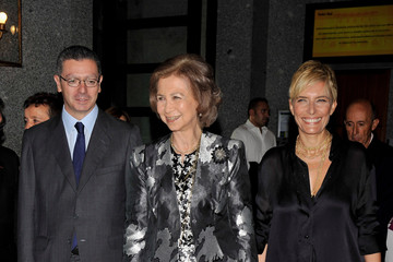 Sonsoles Espinosa Queen Sofia of Spain Attends 'Real Theatre' Opera Opening Season