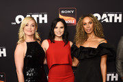 """(L-R) Elisabeth Rohm, Katrina Law and Leona Lewis arrive at Sony Crackle's """"The Oath"""" Season 2 exclusive screening event at Paloma on February 20, 2019 in Los Angeles, California."""