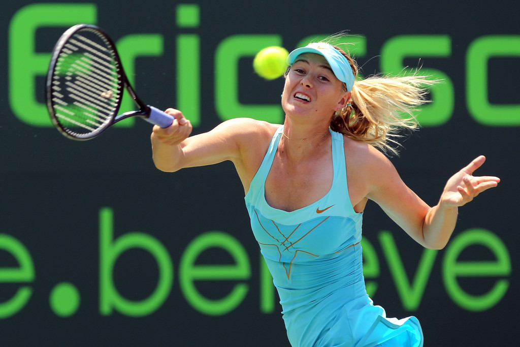 Pictures of Maria Sharapova Making Funny Faces at the Sony ...