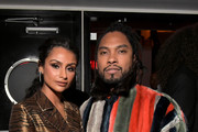 Nazanin Mandi (L) and Miguel attend the Sony Music Entertainment 2019 Post-Grammy Reception at NeueHouse Hollywood on February 10, 2019 in Los Angeles, California.