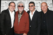Michael Barker, Pedro Almodovar, Antonio Banderas and Agustin Almodovar at the Sony Pictures Classics TIFF Celebration Dinner 2019 at Morton's The Steakhouse on September 07, 2019 in Toronto, Canada.