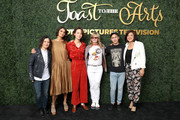 (L-R) Sara Gilbert, Robia Rashid, Bridgette Lundy-Paine, Jennifer Jason Leigh, Keir Gilchrist and Mary Rohlich attend Sony Pictures Television's Emmy FYC Event 2019 'Toast to the Arts' on May 04, 2019 in Los Angeles, California.