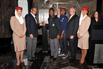 Sophie Boatman New York Cosmos' Pele Lights The Empire State Building
