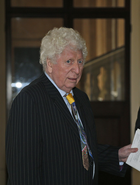 British actor Tom Baker, the fourth incarnation of the Doctor role in the BBC One British television series 'Doctor Who', is seen as he arrives for a reception to mark the 50th anniversary of the hit TV series at Buckingham Palace on November 18, 2013 in London, England. Sophie, Countess of Wessex hosted a reception to mark the 50th anniversary of the TV series in which there have been 11 Doctors to date. It now holds the Guinness World Record for the longest running science fiction series in the world.