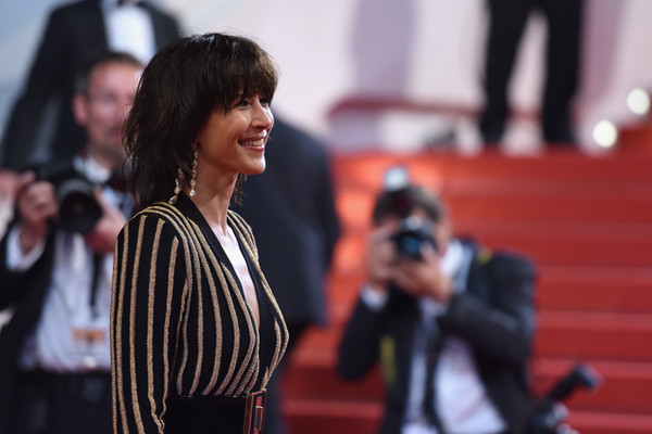 'Nie Yinniang' Premiere - The 68th Annual Cannes Film Festival [nie yinniang premiere - the 68th annual cannes film festival,red,fashion,street fashion,human,event,outerwear,photography,black hair,long hair,performance,sophie marceau,cannes,france,premiere,cannes film festival]