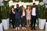 "(L-R) Kelly Marie Tran, Jovan Adepo, Kit Steinkellner, Elizabeth Olsen, and Mamoudou Athie attend the ""Sorry For Your Loss"" season 2 premiere event at NeueHouse Los Angeles on October 01, 2019 in Hollywood, California."