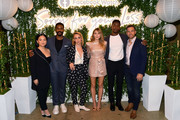 "(L-R) Kelly Marie Tran, Jovan Adepo, Kit Steinkellner, Elizabeth Olsen, Mamoudou Athie, and Zack Robidas attend the ""Sorry For Your Loss"" season 2 premiere event at NeueHouse Los Angeles on October 01, 2019 in Hollywood, California."