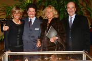 (L-R) Donatella Treu, Matteo Marzotto, Maria Franca Norsa and Michele Norsa attend the Sotheby's charity auction for FFC Onlus on January 23, 2013 in Milan, Italy.