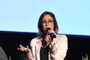 """Shira Lazar speaks onstage during SoulPancake's """"Four Conversations about One Thing"""" at Hammer Museum on May 29, 2019 in Los Angeles, California."""