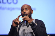 """Romany Malco speaks onstage during SoulPancake's """"Four Conversations about One Thing"""" at Hammer Museum on May 29, 2019 in Los Angeles, California."""