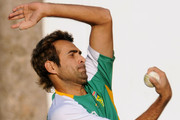 Imran Tahir of South Africa bowls during a Proteas nets session at VCA Stadium on March 11, 2011 in Nagpur, India.