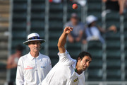 Imran Tahir of South Africa bowling during day 2 of the 2nd Sunfoil Series Test match between South Africa and Australia at Bidvest Wanderers on November 18, 2011 in Johannesburg, South Africa