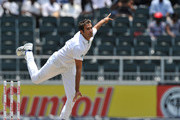 Imran Tahir of South Africa is seen during his delivery stride during day 2 of the 2nd Test match between South Africa and Australia at Bidvest Wanderers on November 18, 2011 in Johannesburg, South Africa.