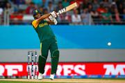 Imran Tahir of South Africa bats during the 2015 ICC Cricket World Cup match between South Africa and Pakistan at Eden Park on March 7, 2015 in Auckland, New Zealand.