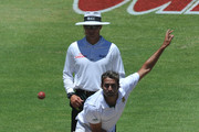 Imran Tahir of South Africa bowlsduring day 4 of the 3rd Sunfoil Test match between South Africa and Sri Lanka at Sahara Park Newlands on January 06, 2012 in Cape Town, South Africa.